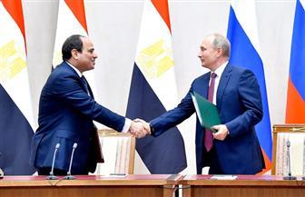 الرئيس السيسي: اتفقت مع بوتين على تعزيز تبادل المعلومات لدعم جهود مكافحة الإرهاب