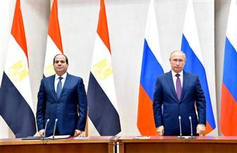 الرئيس السيسي: ناقشت مع بوتين ضرورة إقامة دولة فلسطينية على حدود 1967 ودعم الجيش الليبي