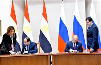 الرئيسان السيسي وبوتين يوقعان اتفاقية الشراكة الإستراتيجية بين مصر وروسيا| صور