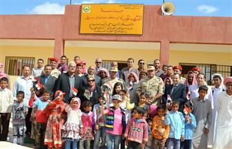 القوات المسلحة بالتعاون مع مؤسسات المجتمع المدني تفتتح أربع مدارس جديدة بسيناء| صور