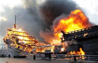 اشتعال النيران في عبارة تقل 335 شخصا في بحر البلطيق