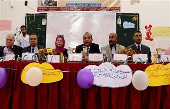 رئيس جامعة بنى سويف يشهد حفل استقبال الطلاب الجدد بكلية التربية  صور