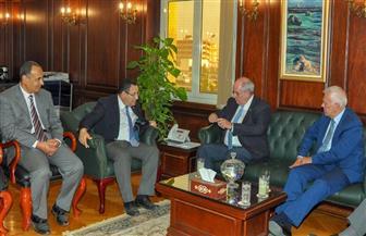 محافظ الإسكندرية يستقبل نائب وزير الخارجية اليونانى وسفير اليونان   صور
