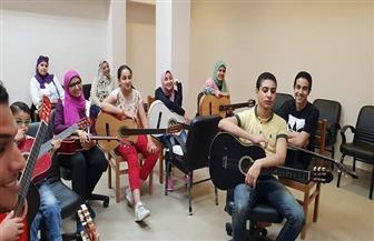 تنمية مواهب طنطا الثقافى يستقبل متدربين جددا فى العزف والغناء والرسم   صور