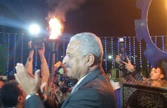إيقاد شعلة النصر إيذانا ببدء احتفالات السويس بعيدها القومي|صور
