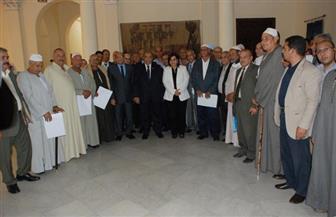 وزير الزراعة يُسلم العقود النهائية لـ 50 منتفعا من الإصلاح الزراعي فى 11 محافظة  صور