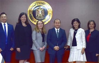 وزير التجارة يبحث مع ممثلي وزارة التجارة الأمريكية تعزيز التعاون بين البلدين| صور