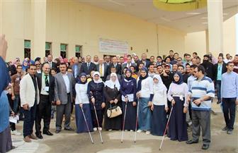 الداخلية تحتفل مع الطلاب باليوم العالمي للمكفوفين والعصا البيضاء