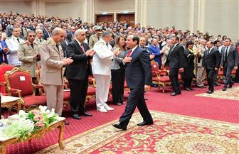 الرئيس السيسي يصل مركز المنارة لحضور حفل فني بمناسبة الذكرى الـ45 لنصر أكتوبر