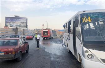 وزيرة الصحة تتابع حادث إصابة 14 طالبا في انقلاب أتوبيس بطريق القاهرة السويس