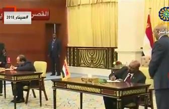 مصر والسودان توقعان 12 اتفاقية وميثاقا للشرف الإعلامي