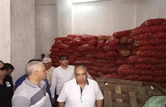 ضبط 942 طن بطاطس في حملات تموينية بطلخا