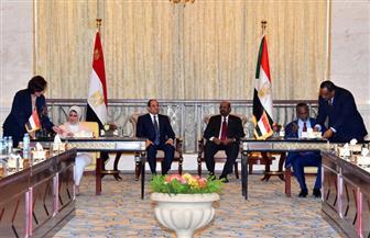 الرئيسان السيسي والبشير يشهدان مراسم توقيع اتفاقيات التعاون بين مصر والسودان