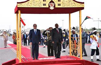 الرئيس السيسي يغادر السودان بعد زيارة ناجحة
