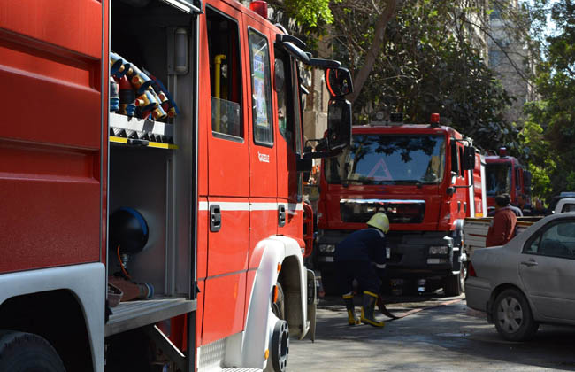 حريق هائل بالمنطقة الصناعية في بلبيس بالشرقية