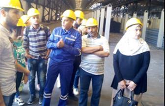 زيارة تفقدية من طلاب جامعة الإسكندرية للمنطقة الصناعية بالسادات