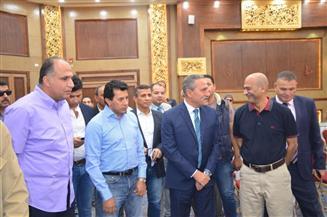 وزير الشباب والرياضة ومحافظ الإسماعيلية يتفقدان النادي الإسماعيلي الاجتماعي الجديد