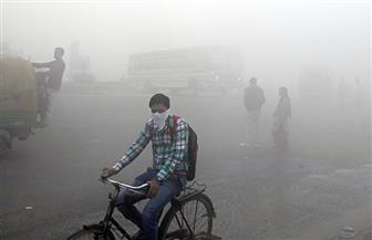 الضباب يطبق على العاصمة الهندية فى ذروة موسم التلوث
