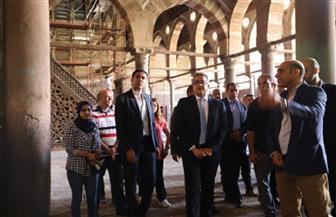 وزير الآثار يتفقد أعمال مشروع ترميم مسجد المارداني بالدرب الأحمر | صور