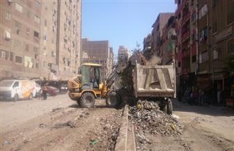 رفع 1170 طن مخلفات وقمامة بشمال الجيزة