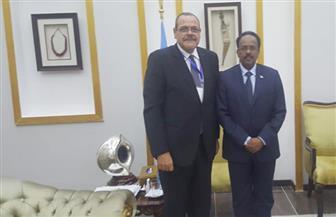 مصر تشارك في اجتماع مجموعة الاتصال الخاصة بدعم الصومال  صور