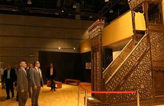 وزير الآثار يتفقد استعدادات المتحف القومي للحضارة بالفسطاط للافتتاح | صور