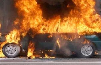 اشتعال النار فى سيارة ملاكى بالخليفة المأمون