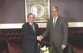 جلسة مباحثات ثنائية بين وزير البترول ونظيره المغربي في مراكش