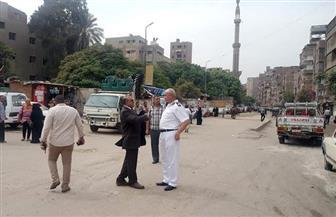 استمرار إزالة الإشغالات بشارع مستشفى الصدر في العمرانية | صور