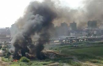 انفجار الخط والحريق كشفها..  ضبط عصابة تسرق الغاز من أنابيب تمر بأراض زراعية