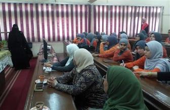 ورش عمل ومحاضرات تعريفية ضمن النشاط الأسبوعى لعلوم بنات جامعة الأزهر | صور