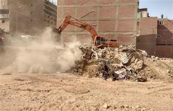 محافظة القاهرة تزيل تعديات فى السلام لفتح محور مروري مواز لجسر السويس | صور