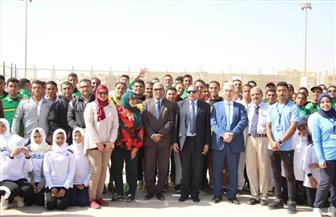 رئيس جامعة بنى سويف يفتتح البطولة الرياضية لذوي الإعاقة   صور