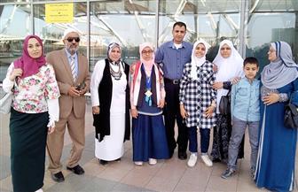 """وفد من """"تعليم كفرالشيخ"""" يستقبل الطالبة مريم يوسف بعد فوزها بالمركز الثاني في مسابقة عالمية"""