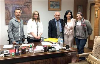 فاروق الباز يلتقى رئيسة التليفزيون بماسبيرو ويسجل لقاء خاصا مع برنامج (علشان بكرة)
