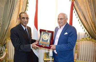 محافظ بورسعيد يستقبل السفير الهندي الجديد بالقاهرة   صور
