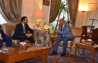 أبو الغيط لرئيس البرلمان العراقي: ندافع عن وحدة العراق ونرفض التدخل فى شئونه الداخلية