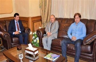 وزير الشباب والرياضة يلتقي رئيس الاتحاد المصري لكرة القدم