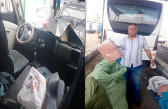 فصل سائق بجراج محافظة بورسعيد لمشاركته في عملية تهريب بضائع | صور