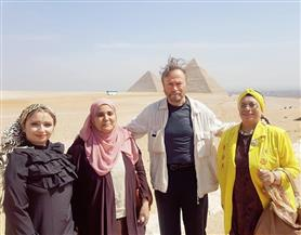 ضيوف مهرجان الإسكندرية السينمائى في جولة سياحية بالقاهرة والإسكندرية |صور