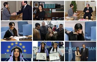 """حين تنتصر الضحية على الجلاد.. """"فتاة سنجار"""" تصفع الدواعش وتحصد نوبل للسلام  فيديو وصور"""