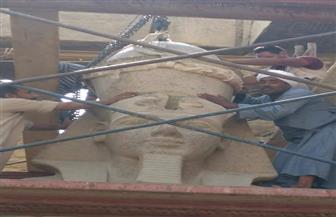 شاهد إعادة تركيب تاج الملك رمسيس الثاني في معبد الأقصر | صور