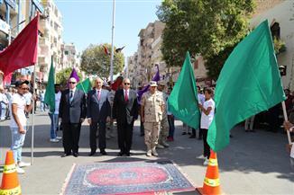 محافظ قنا يشهد الاحتفالات بذكرى انتصارات أكتوبر| فيديو