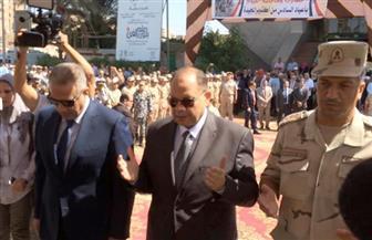 الفيوم تحتفل بانتصارات أكتوبر المجيدة بمسيرة تقدمها المحافظ ومدير الأمن | صور