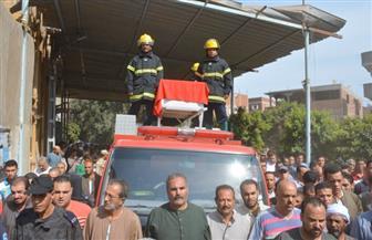 تشييع جثمان الشرطي رمضان عتلم في جنازة عسكرية بمسقط رأسه بطنطا | صور