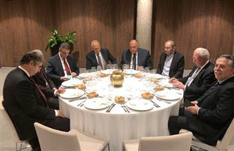 شكري يعقد اجتماعا تنسيقيا مع وزراء الخارجية العرب المشاركين في المنتدى الإقليمي الثالث |صور