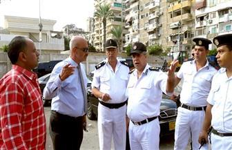 حملة لإزالة الإشغالات والتعديات على أملاك الدولة بحي العرب | صور