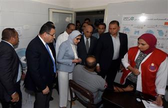 وزيرة الصحة تتفقد مستشفى حميات الإسكندرية لمتابعة تنفيذ مبادرة الرئيس لمكافحة فيروس سي | صور