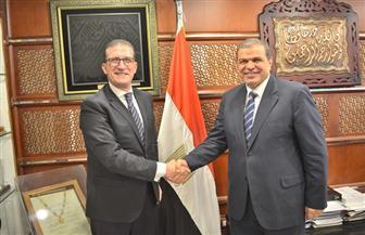 وزير القوى العاملة يلتقي سفير مصر بالأردن للوقوف على أهم مشكلات العمالة المصرية | صور