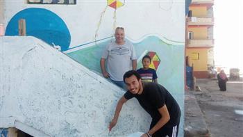شوارع ومباني مدينة برج البرلس بانوراما فنية بريشة 43 فنانا تشكيليا   صور
